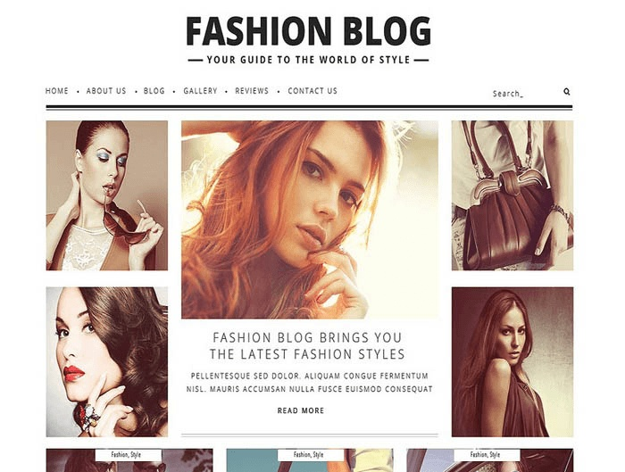 plantilla wordpress para blog de moda
