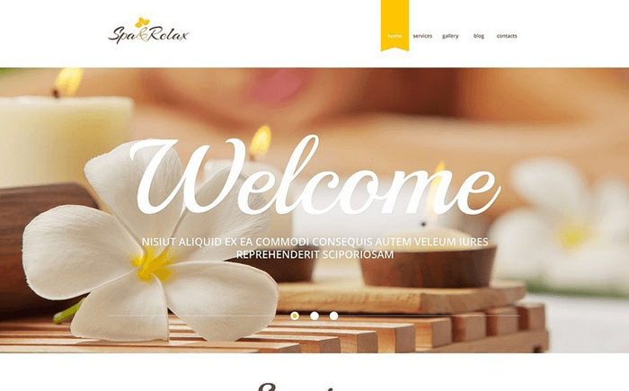 plantilla wordpress para spa